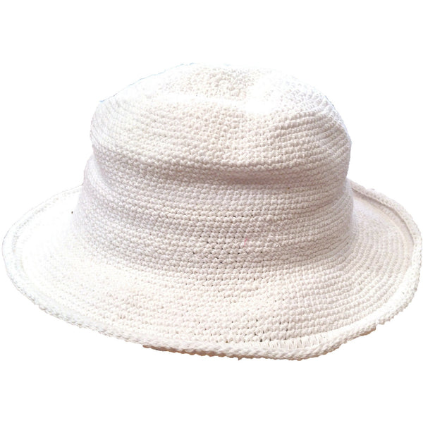 Original Brim Hat - Hand Crocheted - White
