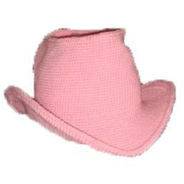 Western Cowboy Hat - Hand Crocheted - Cotton Candy