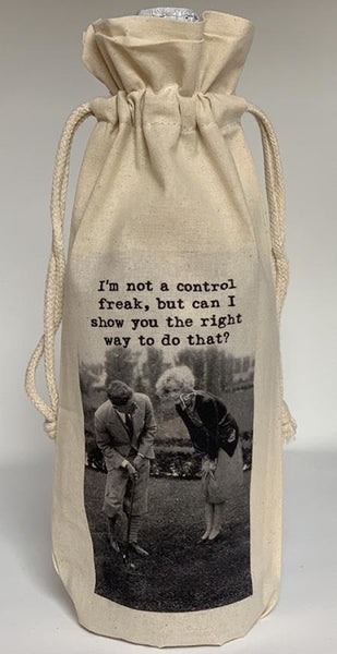 A Few Of My Favorite Things Wine Bag / Control Freak Gift