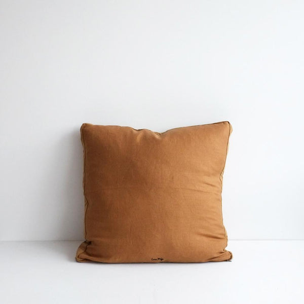 Essential Cuban Linen Cushion with Velvet Edging