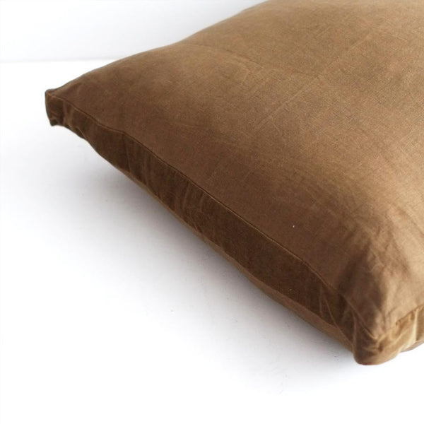 Essential Guerrilla Linen Cushion with Velvet Edging