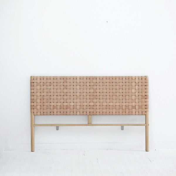 Leather Weave Seed Headboard