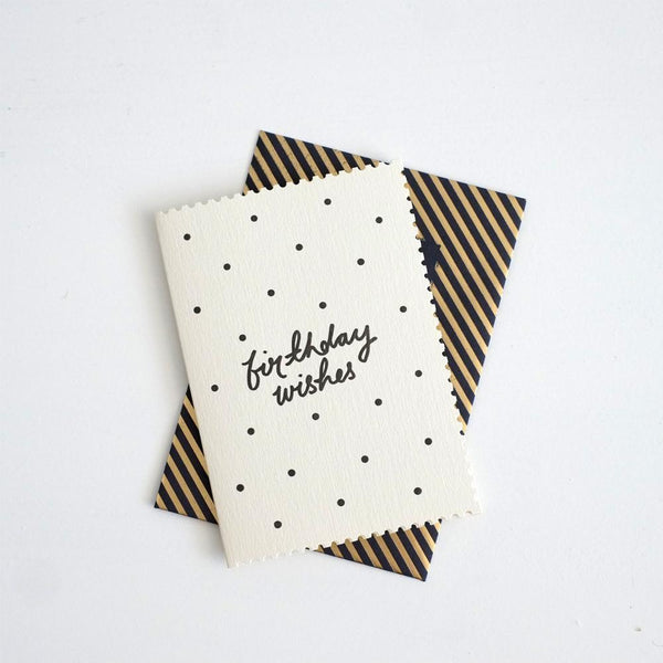 Deco Polka Dot Birthday Wishes Card