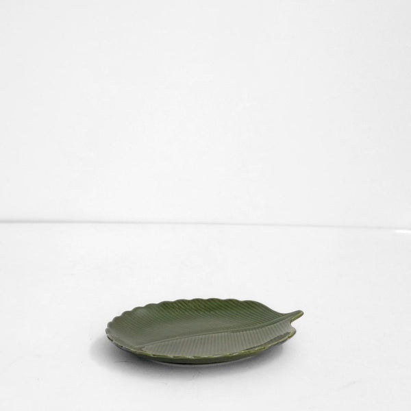 Aster Leaf Plate- Green