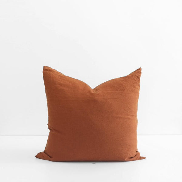 A&C Flax Linen Euro Pillowcase - Terracotta