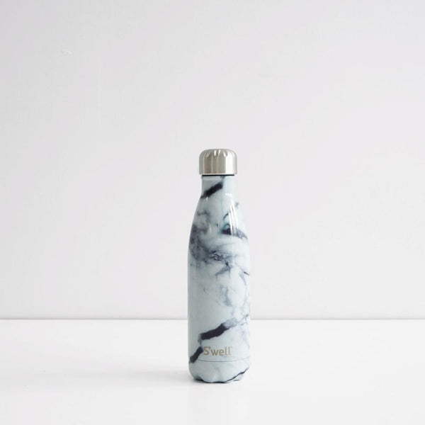S'Well 500ml Stainless Steel Bottle - White Marble