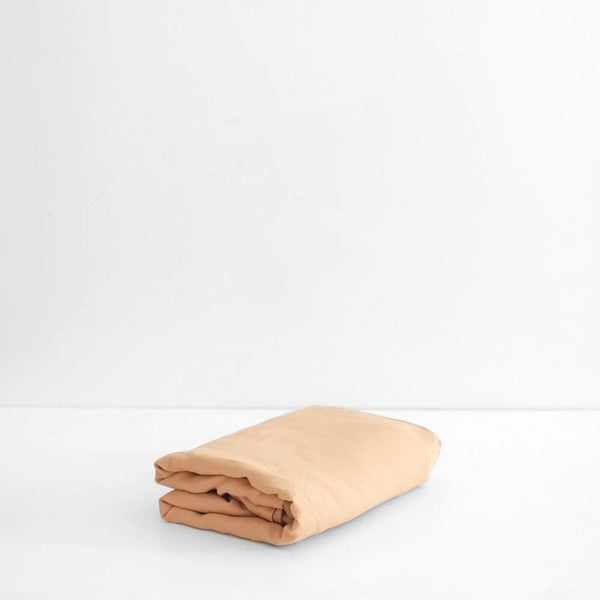 A&C Flax Linen Fitted Sheet - Kombucha