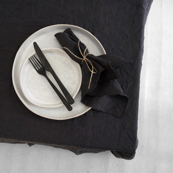 A&C Linen Napkin Set of 4- Dark Charcoal