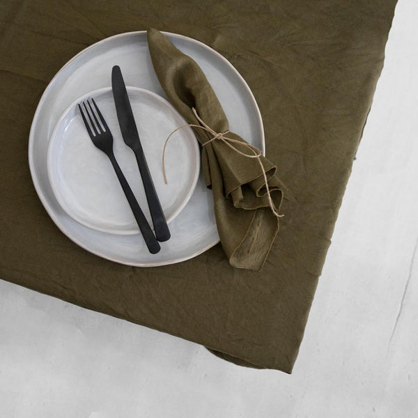 A&C Linen Napkin Set of 4 - Olive
