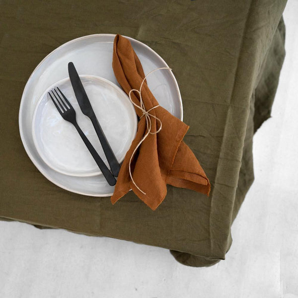 A&C Linen Napkin Set of 4 - Terracotta