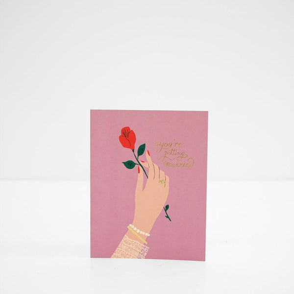 Engagement Rose Card