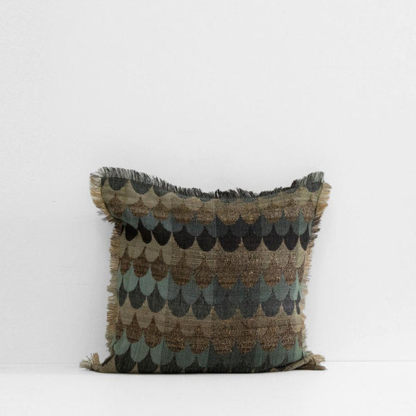 Empire Blue Silk & Wool Cushion
