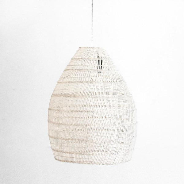 Firth Large Lamp - White Wash