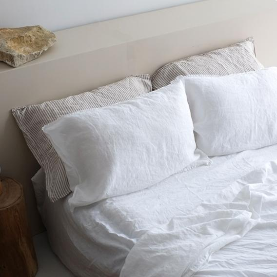 A&C Linen Sheet Set - Classic White