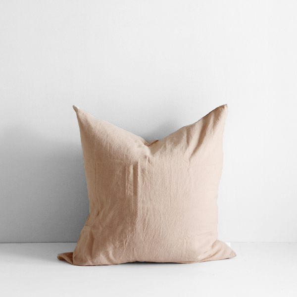 A&C Flax Linen Euro Pillowcase - Biscuit