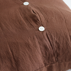A&C Flax Linen Euro Pillowcase - Cocoa