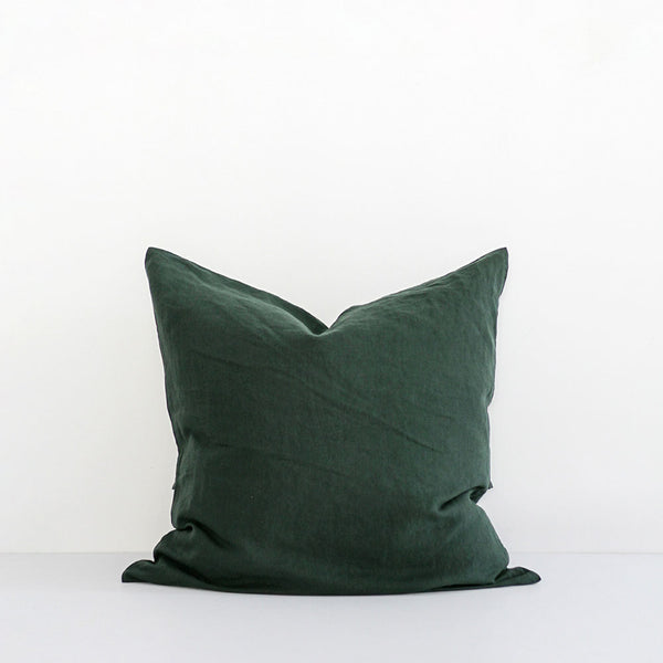 A&C Flax Linen Euro Pillowcase - Hunting Green