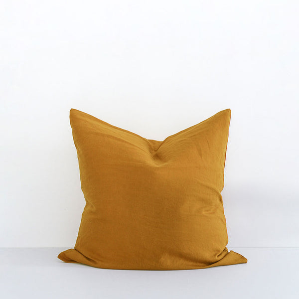 A&C Flax Linen Euro Pillowcase - Marigold