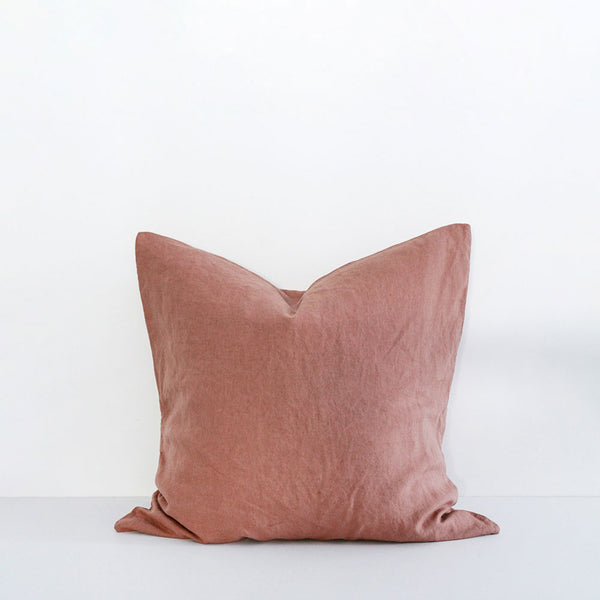 A&C Flax Linen Euro Pillowcase - Moss Rose