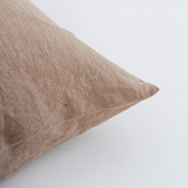 A&C Flax Linen Euro Pillowcase - Nutmeg