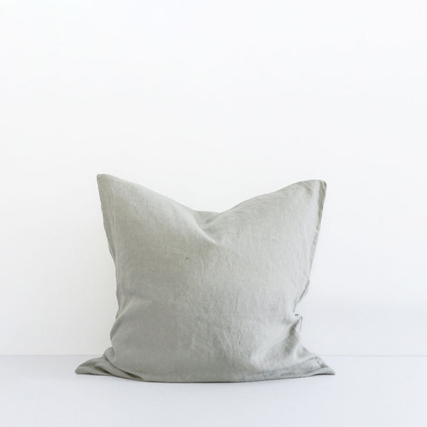 A&C Flax Linen Euro Pillowcase - Sage