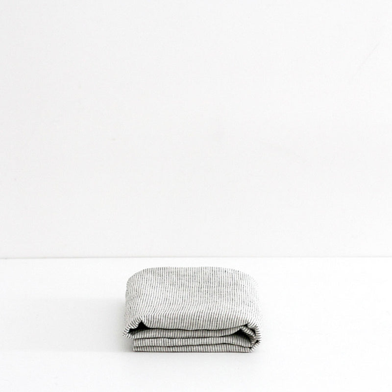 A&C Flax Linen Pillowcases - Pinstripe