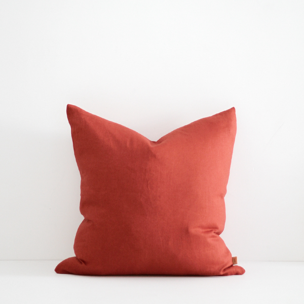 A&C Signature Linen Cushion - Tabasco