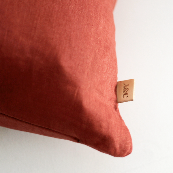 A&C Linen Cushion - Chilli