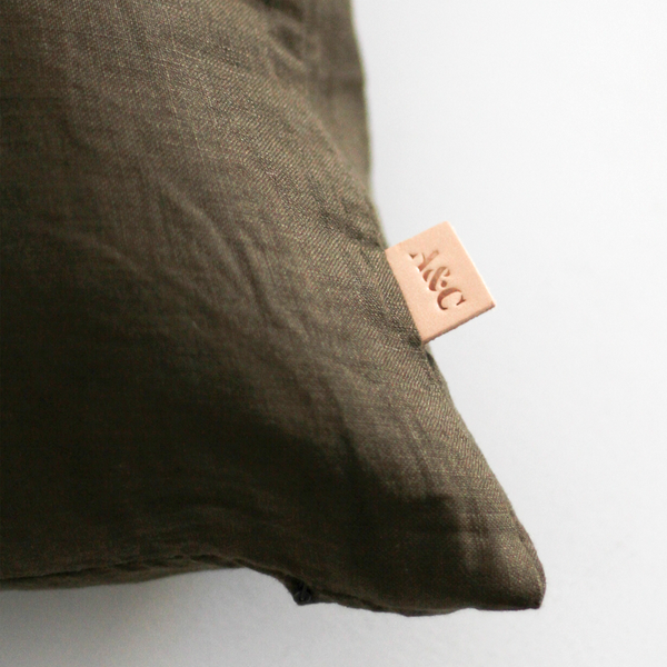 A&C Linen Cushion - Khaki