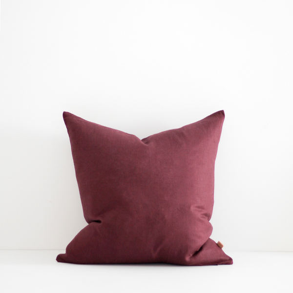 A&C Linen Cushion - Merlot