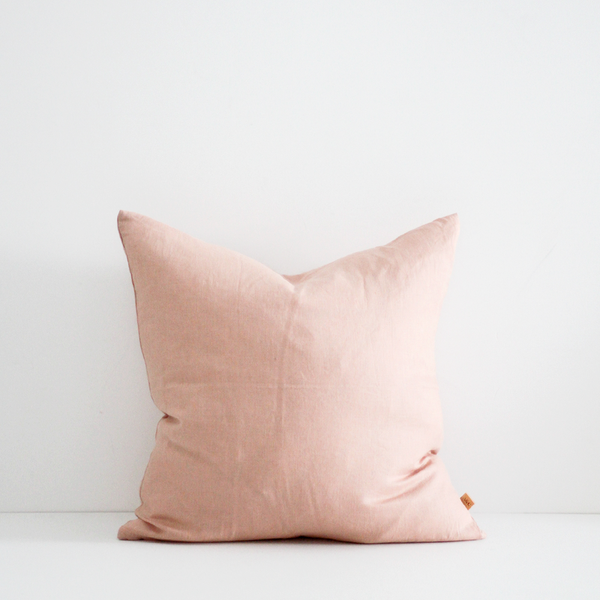 A&C Linen Cushion - Old Rose