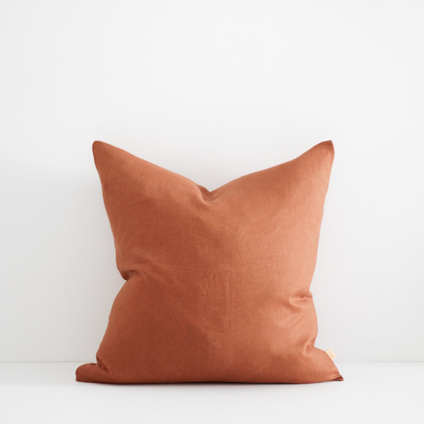 A&C Linen Cushion - Tobacco