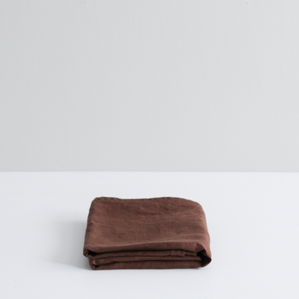 A&C Flax Linen Pillowcases - Cocoa