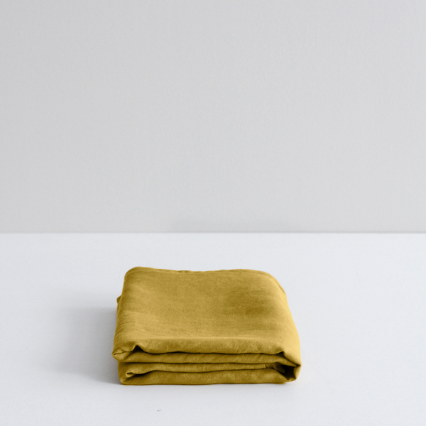 A&C Flax Linen Pillowcases - Ochre