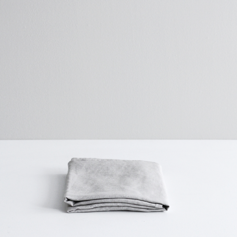 A&C Flax Linen Duvet Cover - Smoke Grey