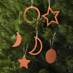 Christmas Decorations set of 6 -  Terracotta