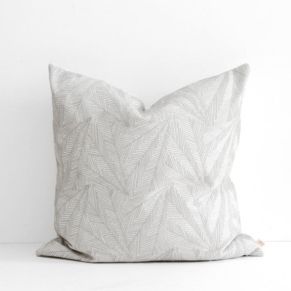 A&C Embroidered Elements Cushion - Mineral