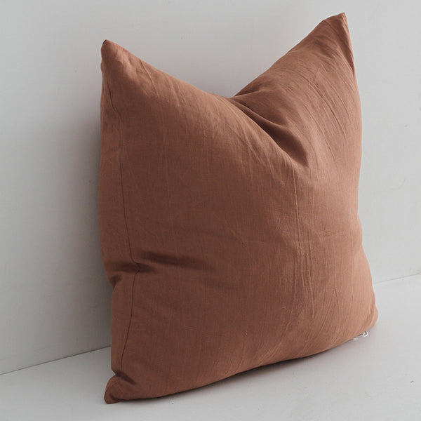 A&C Large Linen Cushion - Cinnamon