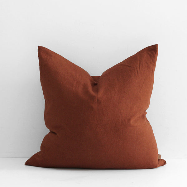 A&C Large Linen Cushion - Rust
