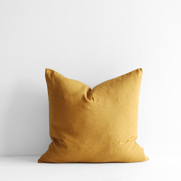 A&C Linen Cushion - Mustard