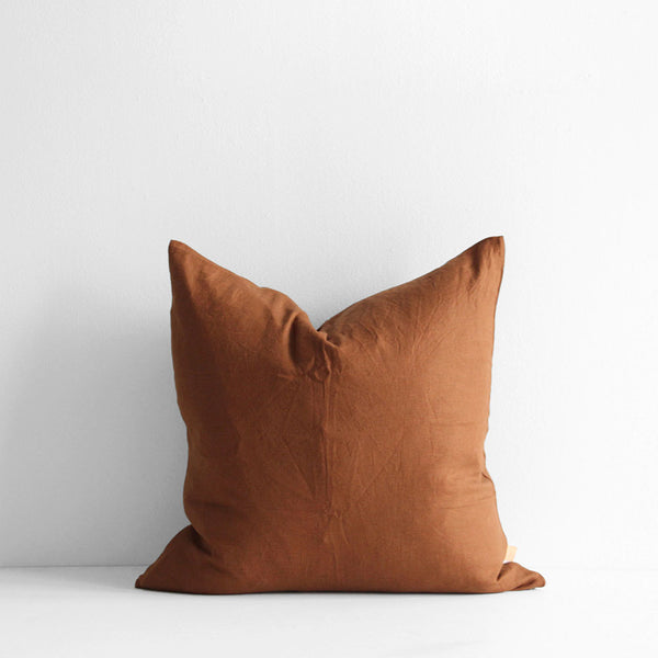 A&C Linen Cushion - Whiskey