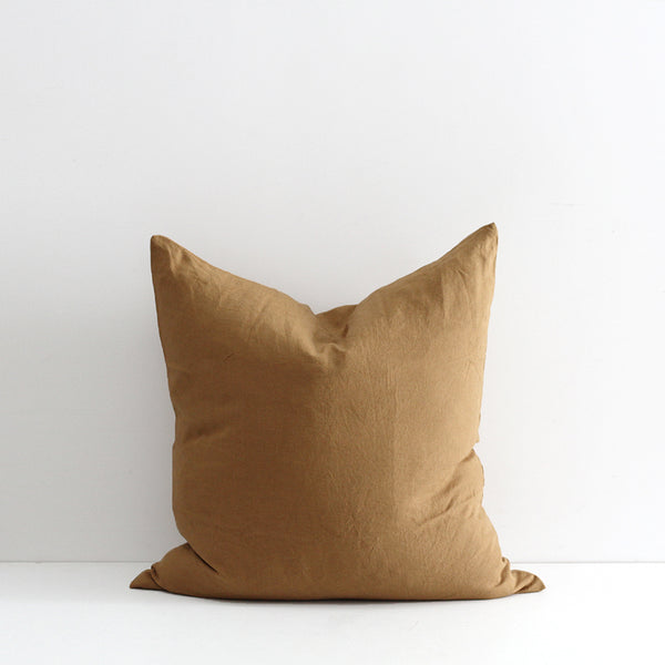 A&C Flax Linen Euro Pillowcase - Chai