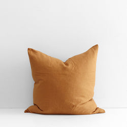 A&C Flax Linen Euro Pillowcase - Clay