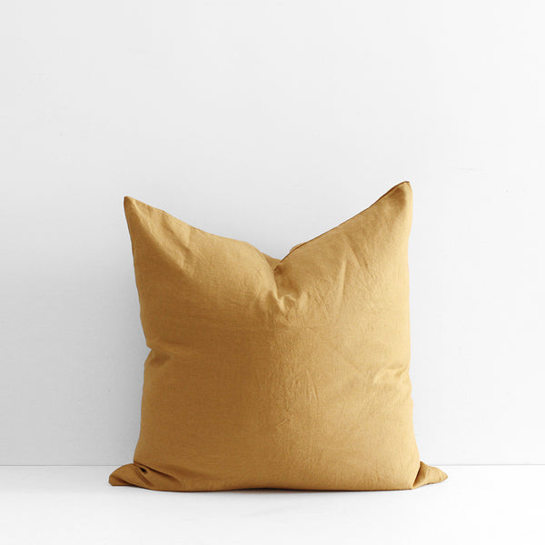 A&C Flax Linen Euro Pillowcase - Ginger