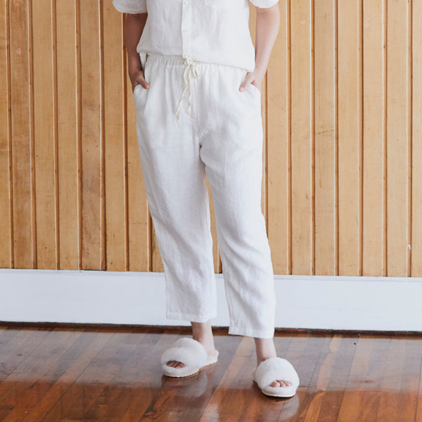 A&C Linen Lounge Pant - Off White