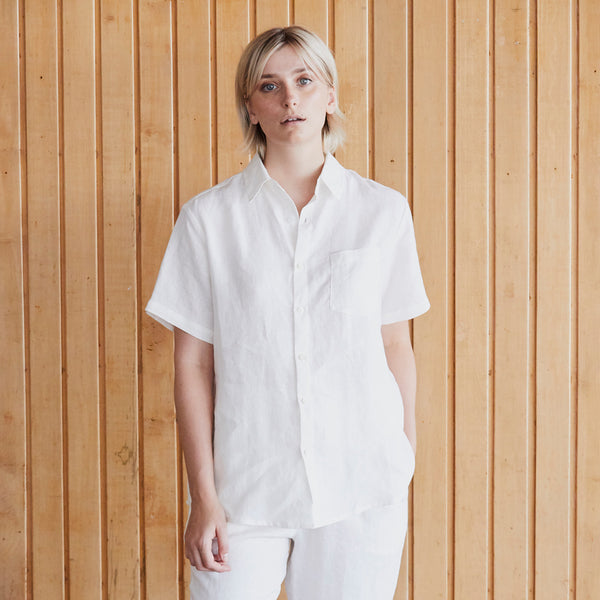 A&C Linen Lounge Shirt - Off White