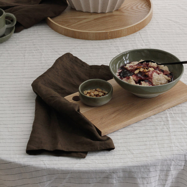 A&C Linen Napkin Set of 4 - Khaki