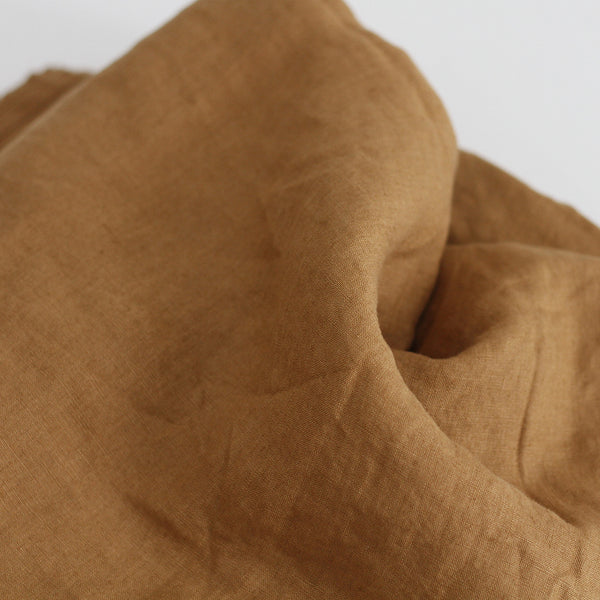A&C Flax Linen Fitted Sheet - Chai