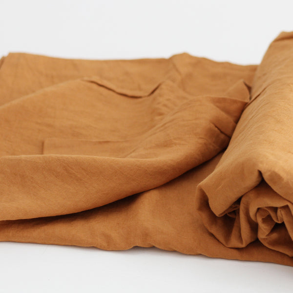 A&C Flax Linen Flat Sheet - Clay