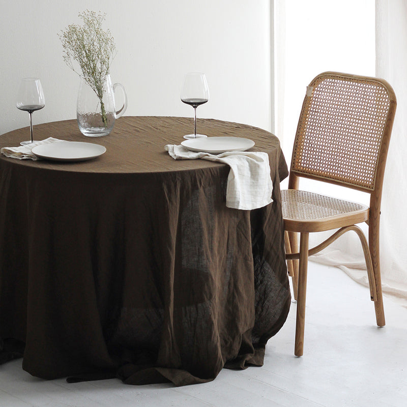 A&C Linen Table Cloth - Khaki